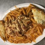 Grilled Chicken with Pink Vodka Sauce